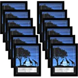 Americanflat 12 Piece 8x10 Picture Frames Set in Black - Composite Wood with Polished Plexiglass - Horizontal and…
