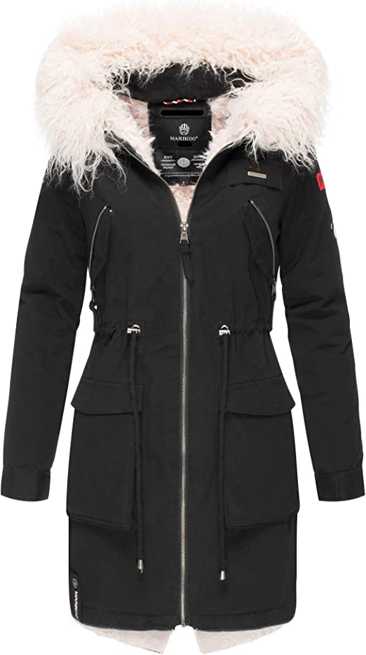 Marikoo Damen Mantel Wintermantel Winterparka Akira XS-XXL