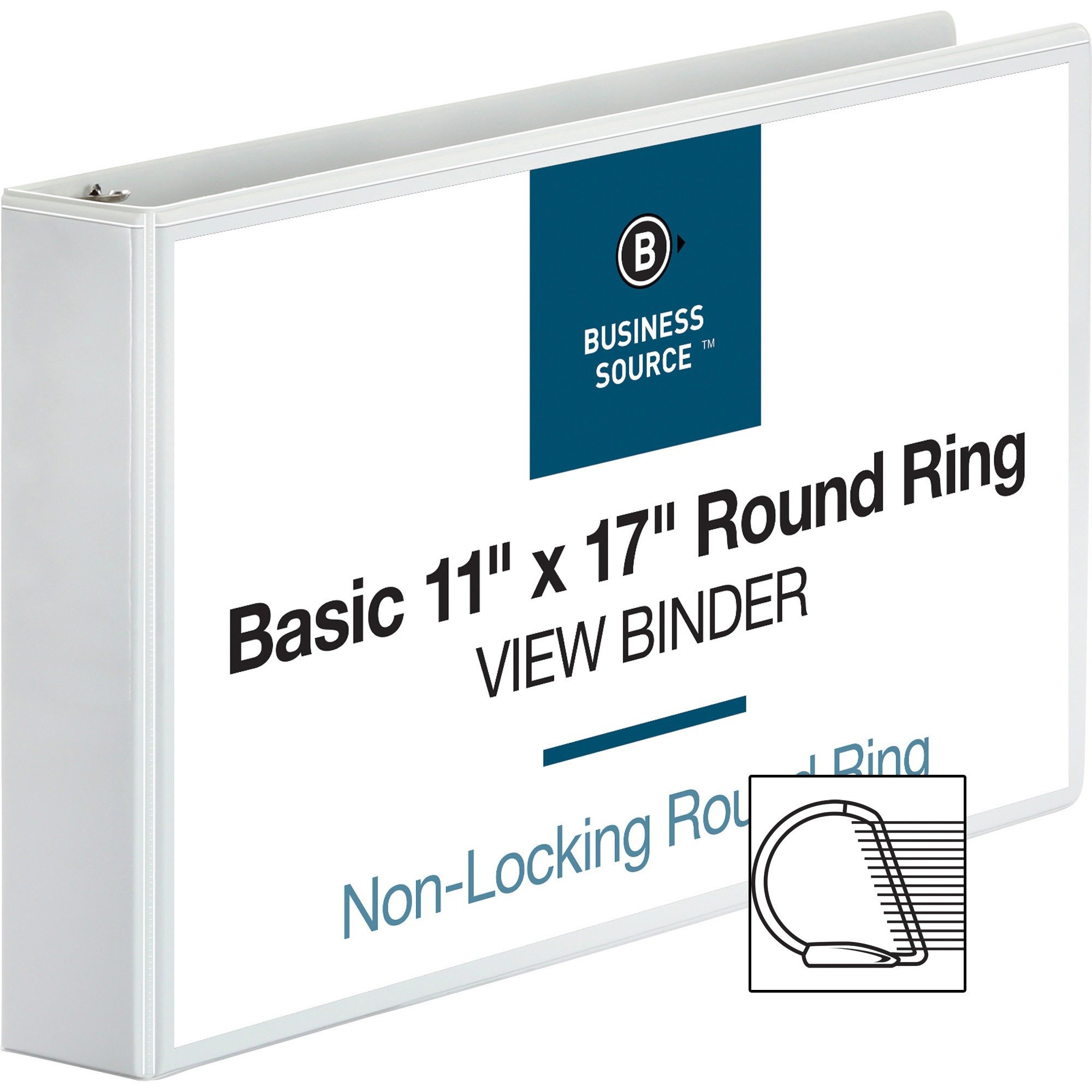 BSN45101 - Business Source Tabloid-size White Reference Binder