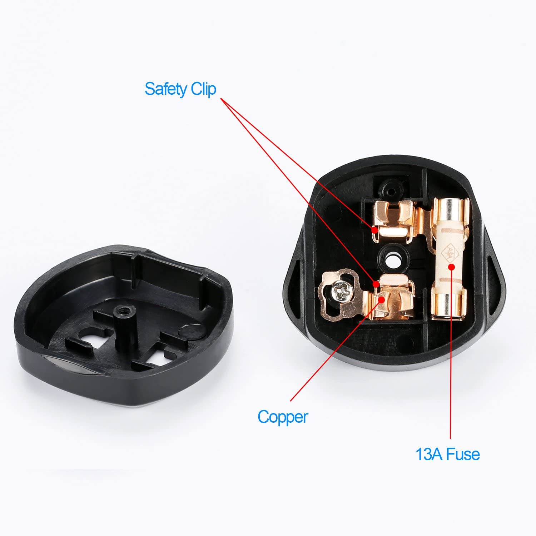Toothbrush Plug Adaptor UK Travel Converter Adaptor Plug 2 Pin Euro to UK 3 Pin Plug Adaptor Shaver Adapter Plug