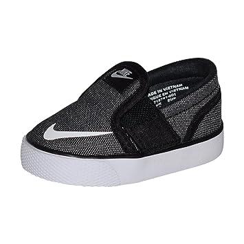 meet 5bf33 230a3 Nike Toki Slipon Canvas Shoe TDV (Black White, 3C)
