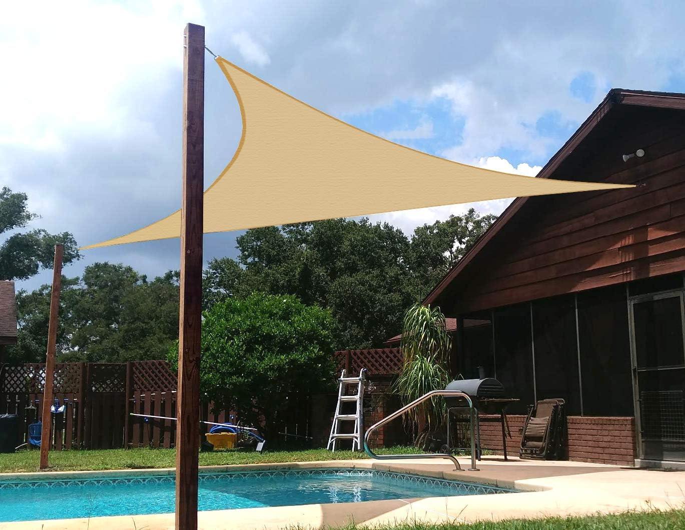 Sombra triangular protección UV transpirable