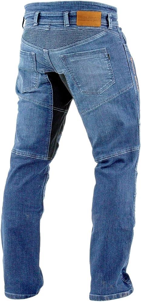 Trilobite Parado Dupont Kevlar Jeans Motorradjeans Inkl Protektoren Langgröße Blau Sport Freizeit