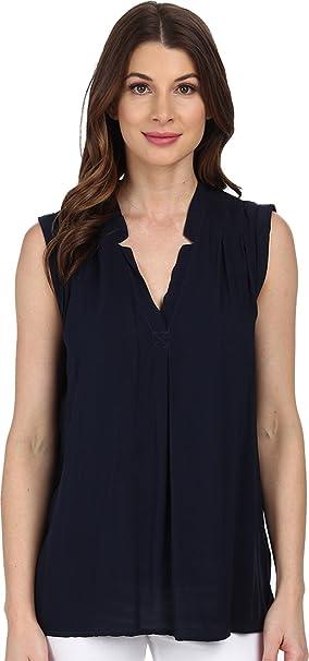 Splendid Rayon - Camiseta de Tirantes de Gasa Para Mujer - Azul - Small/De