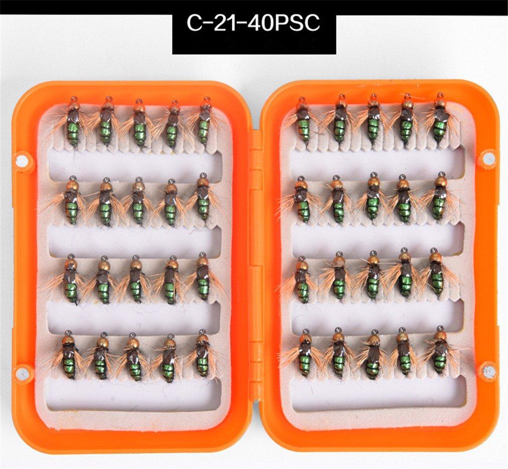 CHSEEO 40PCS Artificiale Pesca Richiamo Set Esche da Pesca Crankbaits Swimbait Cucchiaini da Pesca Attrezzatura di Pesca Esche Artificiali Perfetto per Pesca #1