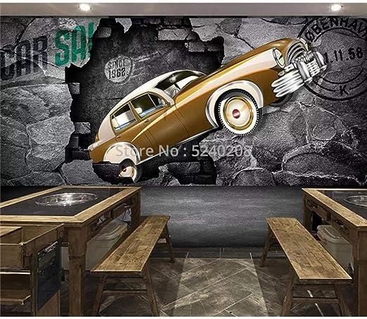 Yoomay Custom Photo Wallpaper 3d Stereo Car Broken Wall