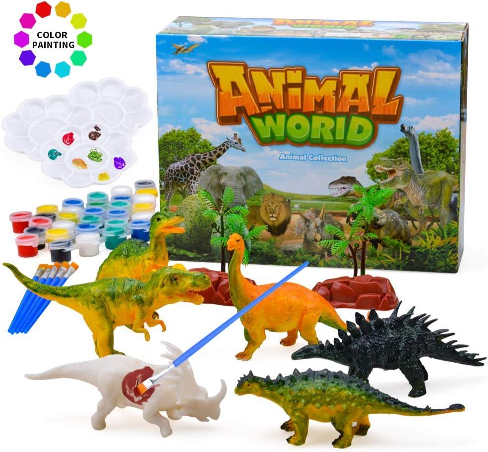 TIBEIBUY Popular DIY 3D Dinosaurs Painting Craft Toys for Boys Girls Kids - Top Toys Gifts
