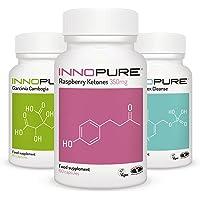 Pure Raspberry Ketones, Garcinia Cambogia & Detox DX-10® Colon Cleanse Diet Pills, Weight Loss Multi-Saver Trio Pack