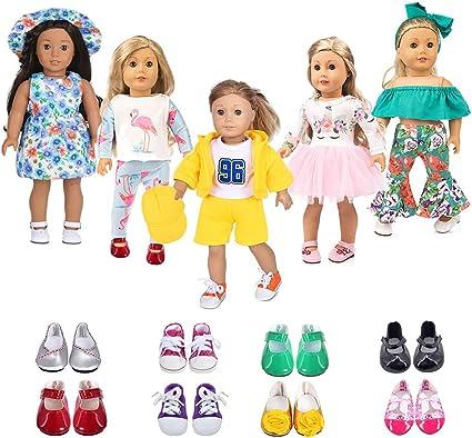 Amazon.com: ebuddy 5 Sets Doll Clothes