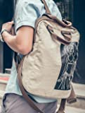 MiCoolker Canvas Printed Satchel Convertible Tote