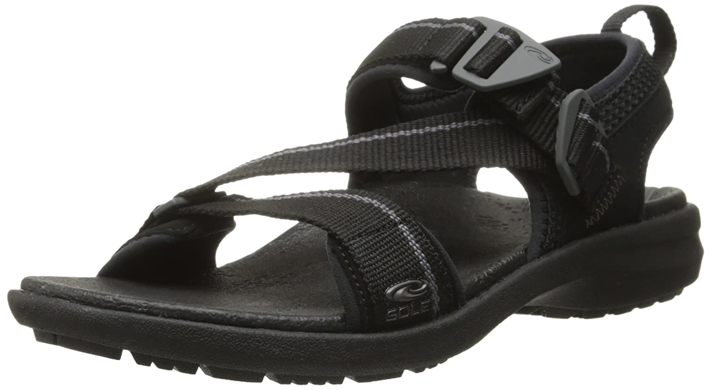 SOLE Women's Navigate Sandal B00K59ABVE 8 B(M) US|Raven