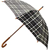Rainbrella Classic Auto Open Umbrella with Real Wooden Hook Handle