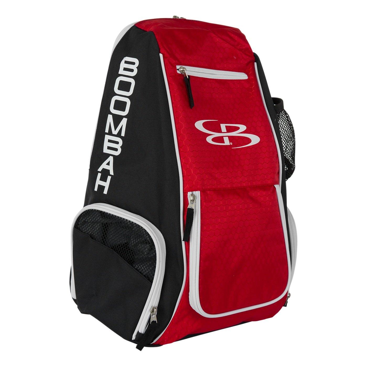 Boombahスパイクバレーボールバックパック – 10カラーオプション – Holdsボール、靴、水ボトルand More B01N6ADFBG ブラック/レッド ブラック/レッド