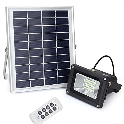 Amazon remote control solar flood light lineway 10w 450 lumen remote control solar flood light lineway 10w 450 lumen outdoor waterproof dimmable solar powered flood aloadofball Choice Image