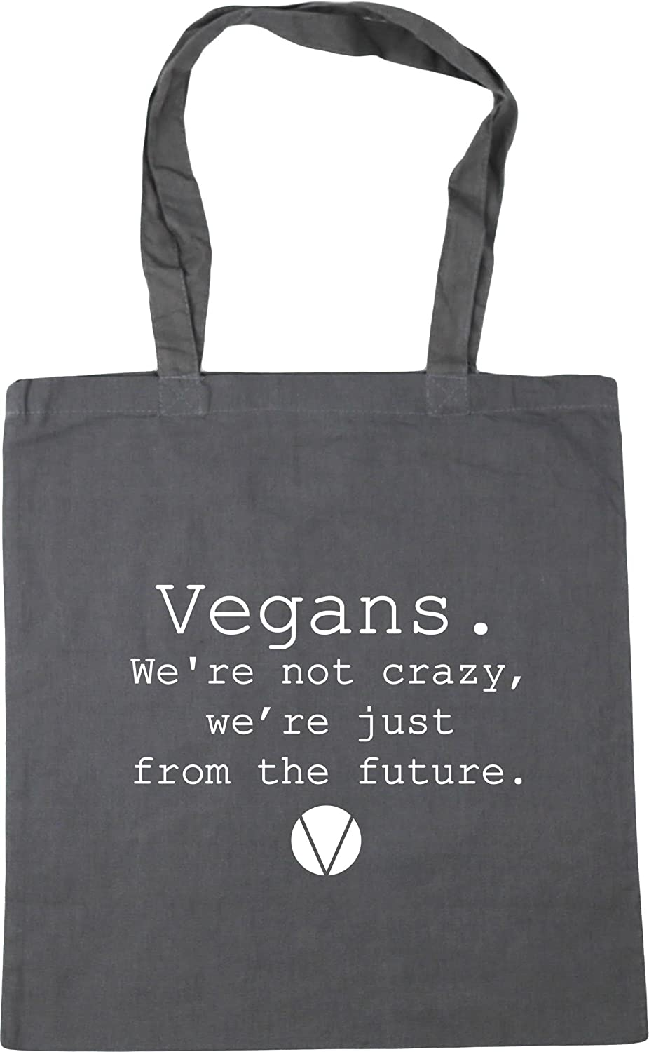 Tote Shopping Gym Beach Bag 42cm Just From The Future We/'re Not Crazy Vegans