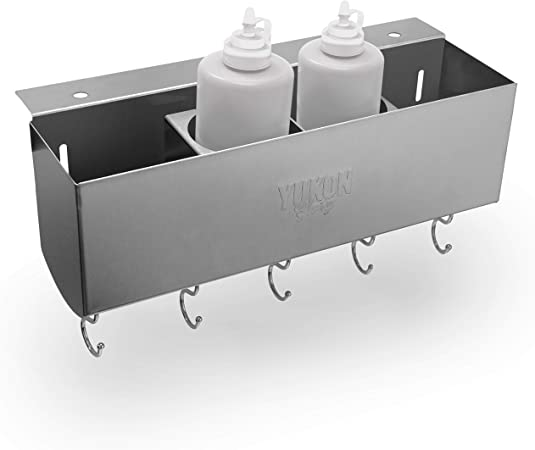 Yukon Glory Stainless Steel Griddle and BBQ Caddy Designed for Blackstone Griddles for Clean and Organized Workspace and Storage