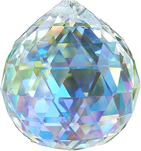 3pcs Hanging Red Crystal Ball Prism Feng Shui Chandelier Lamp Drop Pendants 30mm