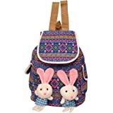 Roshiaaz Women's Cute Two Teddy Flex Multicolor Backpacks - Multicolour (Ard917)