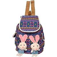 Roshiaaz Women's Cute Two Teddy Flex Multicolor Backpacks - Multicolour (Ard917)