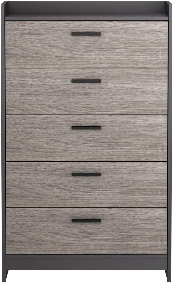 Amazon Com Signature Design By Ashley Central Park Modern Chest Of Drawers 5 Drawer Two Tone Furniture Decor