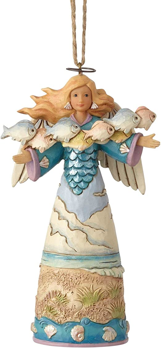 "Jim Shore Enesco Christmas Tree Angel Ornament 5/"" #3 BIN"