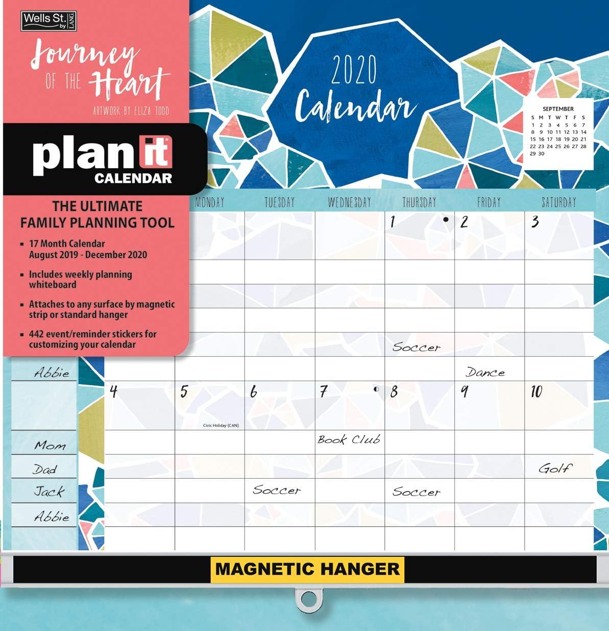 Wells Street by LANG WSBL Journey of The Heart 2020 Plan-It Plus (20997009181) Academic Wall Calendar (20997009181)