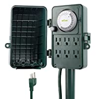 Deals on BN-LINK 24 Hour Mechanical Outdoor Multi Socket Timer 6 Outlet