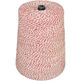 SGT KNOTS Cotton Poly Bakers Twine / Craft String 2 LB Cone - 10,080 Feet (Red and White)