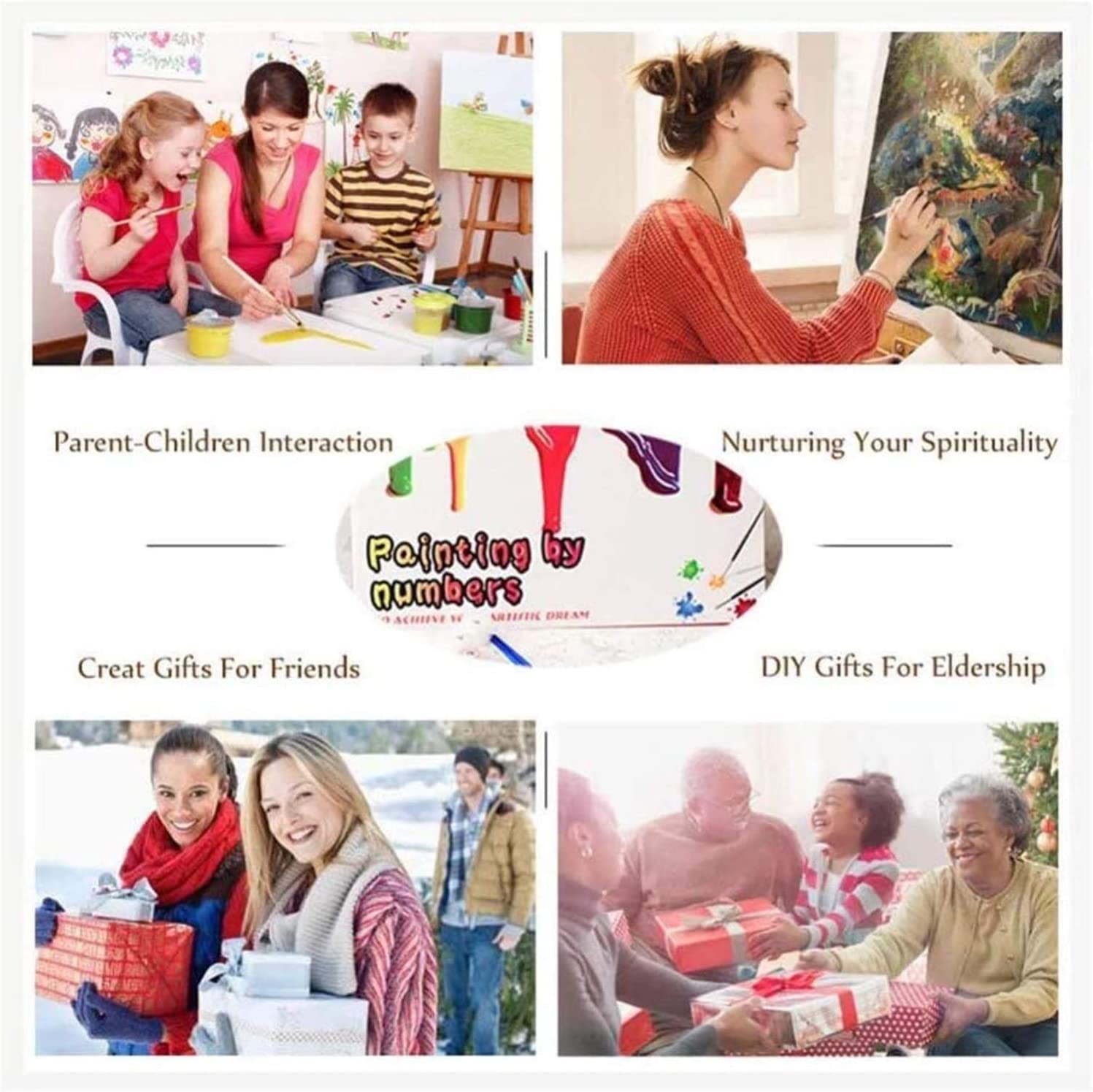 """Paint by Numbers Canvas DIY Oil Painting Set 16X20/"""" KAPOKE Paint by Numbers for Adults /& Kids"""
