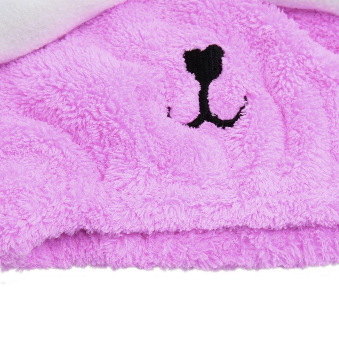 Amazon.com: eDealMax púrpura Lindo del Conejo de poliéster elástico de Pelo Toalla de secado tapa del cabezal Sombrero Para Los niños: Health & Personal ...