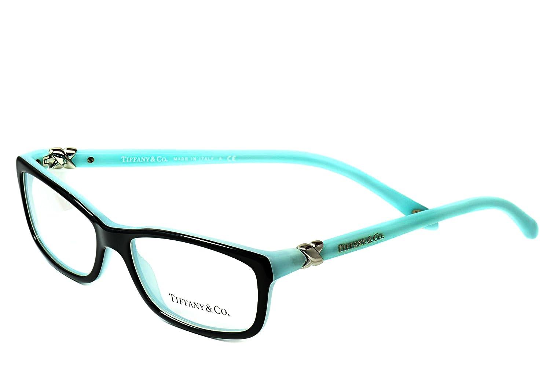 d6e017383a5 Tiffany Designer Eyeglasses Frames TF 2036 8055 52mm Black Green   Amazon.co.uk  Clothing