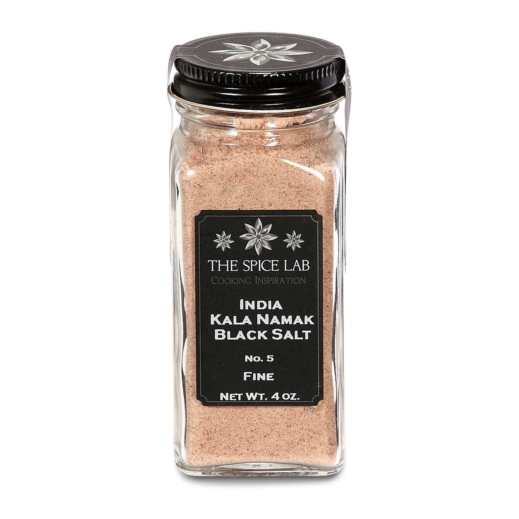 The Spice Lab (French Jar) Indian Kala Namak Mineral Salt - Himalayan Black Salt - Vegan kala namak salt Pure and Natural Indian Black Salt Gluten Free - Vegan Tofu Scrambles - Natural Egg Taste by The Spice Lab