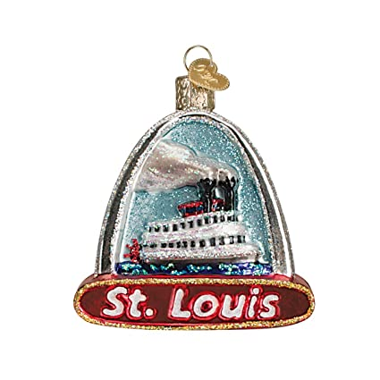 Amazon.com: Old World Christmas Ornaments: St Louis Arch Glass Blown ...