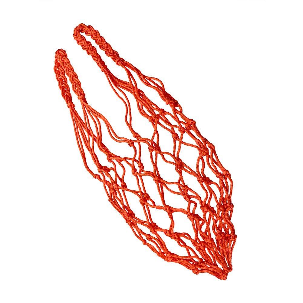 Sienoc estándar 12aro de baloncesto deportes de malla Net + hilo de malla de entrenamiento deportivo de polipropileno resistente borde baloncesto bola bolsa - ST-S05, Blanco
