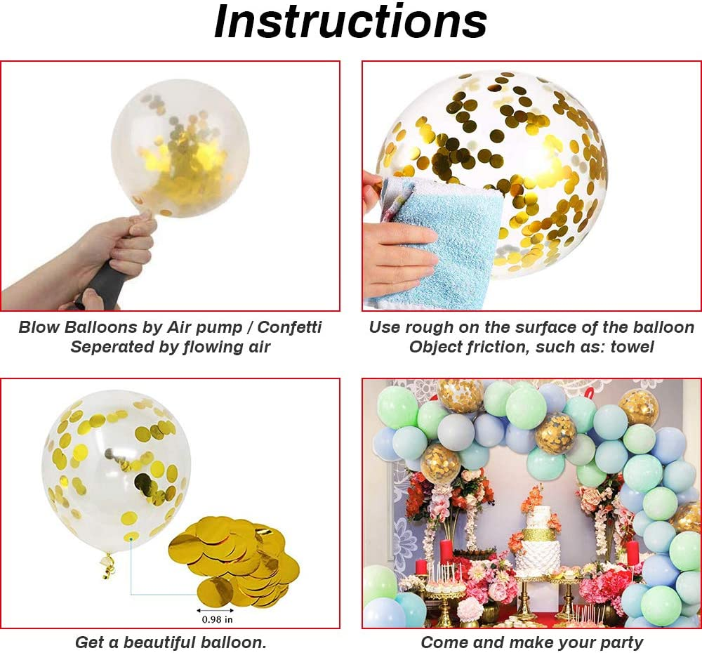 Balloon Birthday Party Supplies Latex Balloon Arch Garland Kit 128 Pcs Set with Balloon Pump Pink Rose Gold Confetti Balloons for Wedding Graduation Parties Decorations NEW RUICHENG Party Balloons