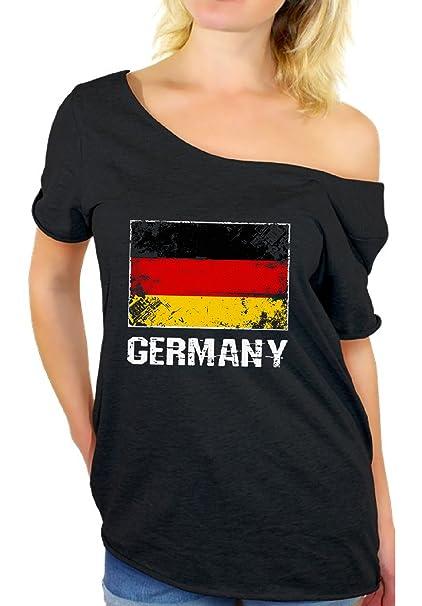 Amazon.com: Awkward estilos Alemania camisa Off hombro ...