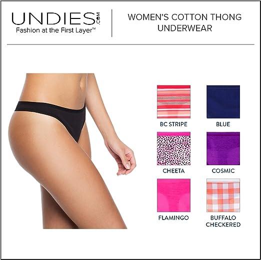 6er-Pack Essentials Damen 6-Pack Cotton Thong Underwear
