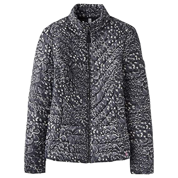 ea29e6d8e Joules Womens/Ladies Y Elodie Quilted Contrast Warm Casual Jacket Coat