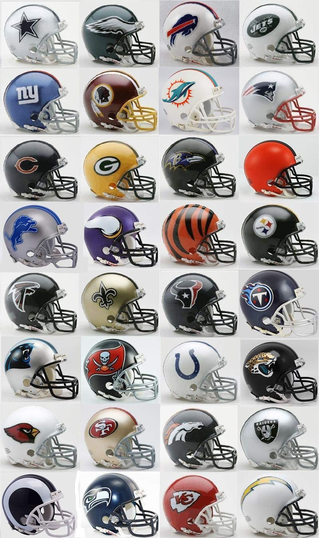 Todos los 32 Nfl equipos Mini cascos w/Z2B máscara por RIDDELL: Amazon.es: Deportes y aire libre