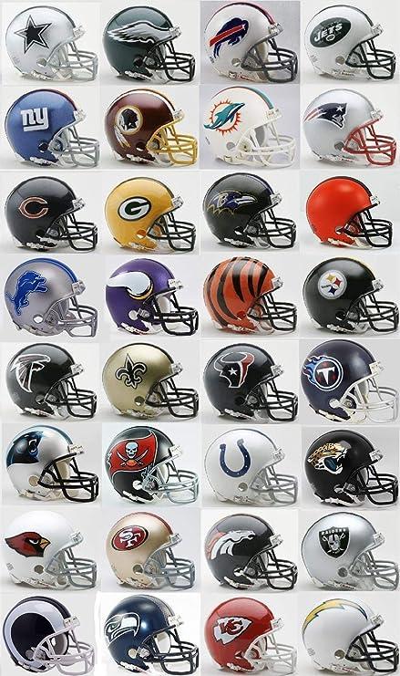 Todos los 32 Nfl equipos Mini cascos w/Z2B máscara por RIDDELL