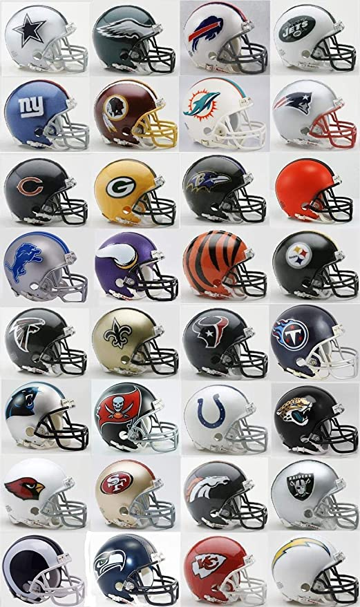 Riddell All 32 NFL Teams Mini Helmets w/Z2B Mask