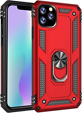 Tough Armor Belt Clip Military Grade Hard Outdoor Shockproof Phone Cases Slim Fit Shock-Absorption Protective Cover for iPhone SE 2020 red iPhone SE 2020 Case with Magnetic Ring Holder Kickstand