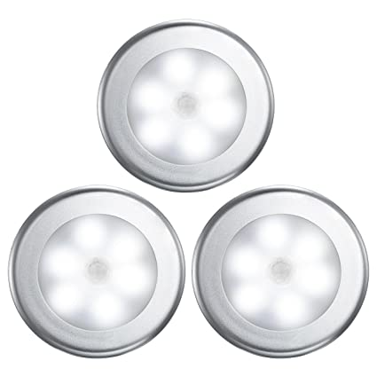 Luz LED Inalámbrica De Sensor De Movimiento Con Batería, Con Luz Nocturna Y Almohadillas Adhesivas