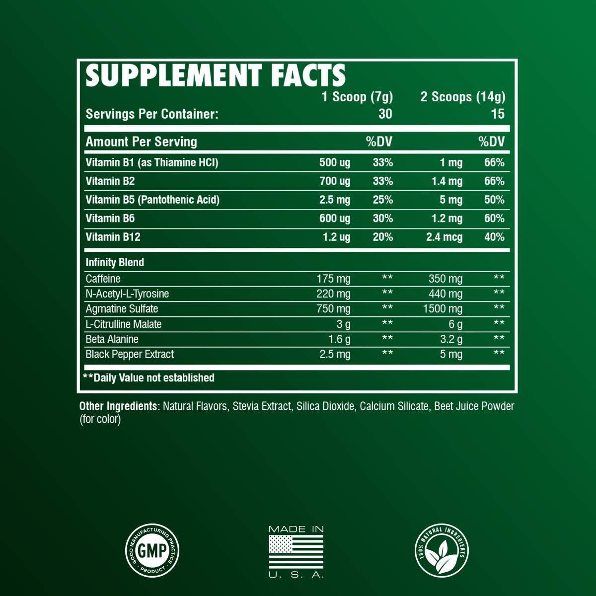 RARI Nutrition Natural Preworkout