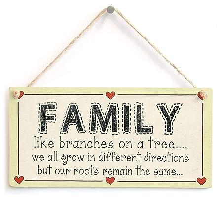 Hunnry Family Like Branches On A Tree Letrero de Placa de ...