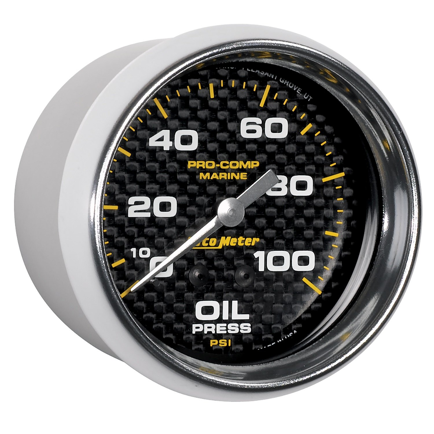 Marine Carbon Fiber Oil Pressure Auto Meter AutoMeter 200777-40 Gauge Mechanical 2 5//8 100Psi