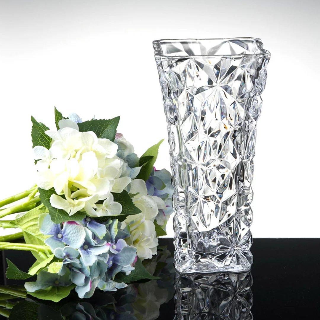 YKFN 花器 ガラス 北欧雑貨 ギフト おしゃれ フラワーベース 花瓶 インテリア 新築祝い 結婚祝い お洒落 クリスタル 贈り物 アレンジメント B06WD2XYVR 口径15x高さ40cm  口径15x高さ40cm