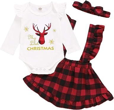 Christmas Toddler Baby Boy Girl Xmas Deer T-Shirt Tops Long Pants Outfit Clothes