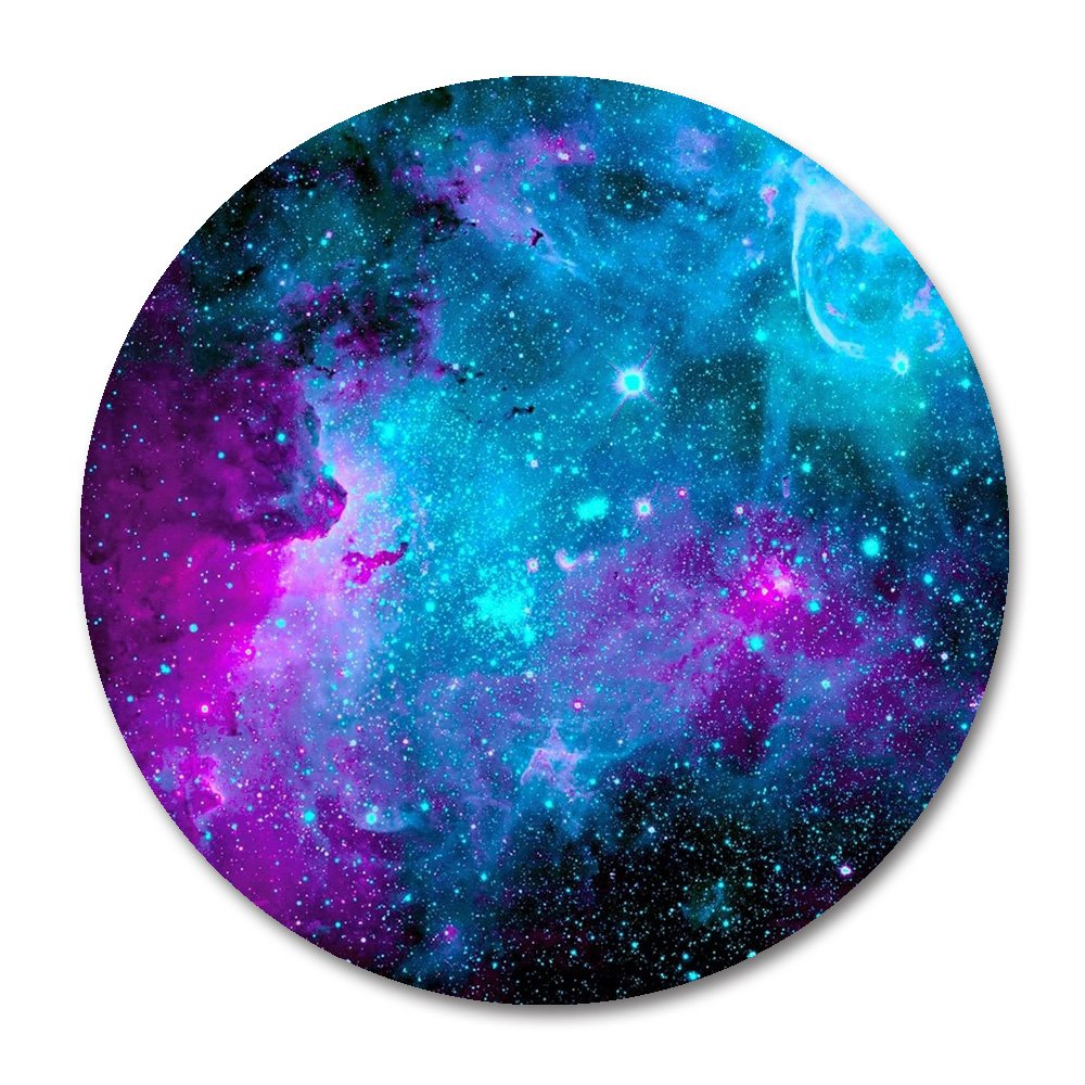 Earth Grey Moon Customized Round Mouse Pad 7.8X7.8 inch