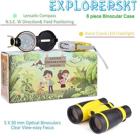 Essenson Outdoor EXPLORER /& KIT Bug Catcher Set avec des jumelles Net lampe de poche